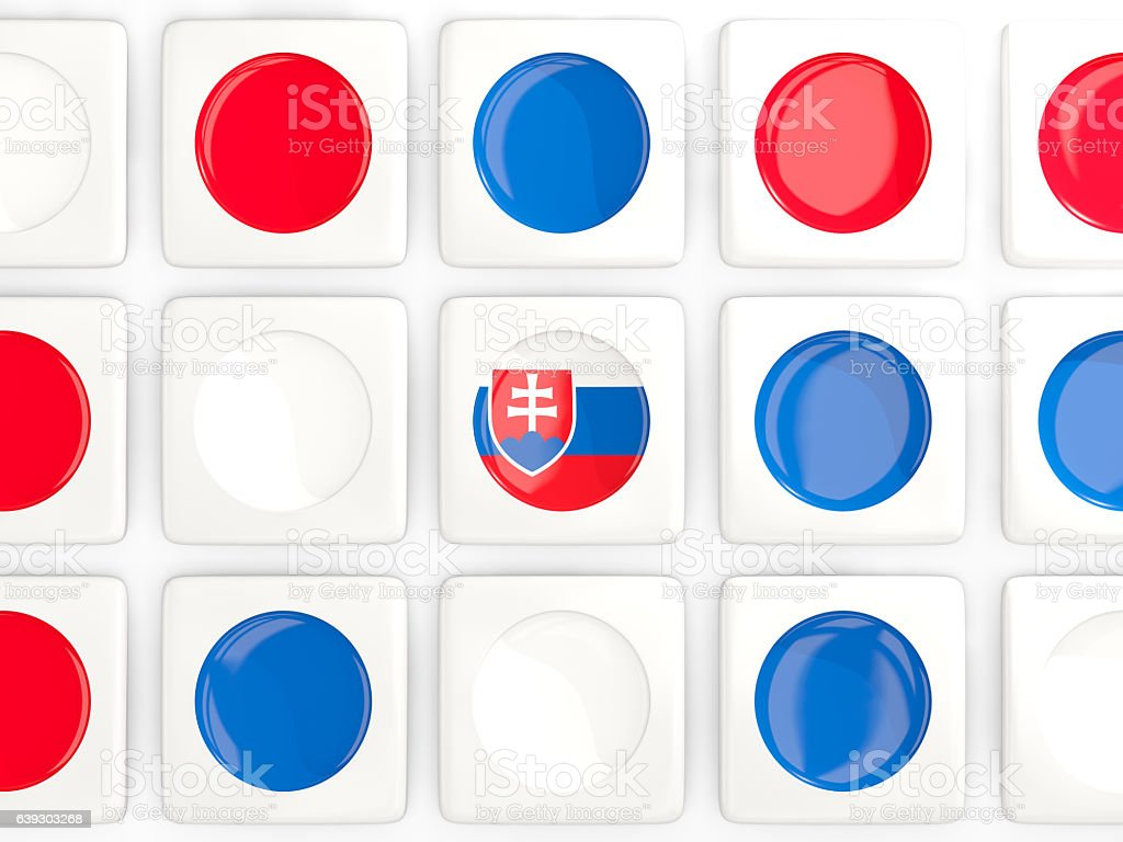 Mosaic background with flag of slovakia stock photo