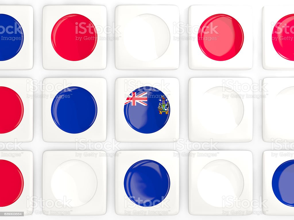 Mosaic background with flag of south sandwich islands stock photo