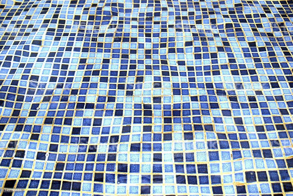 Mosaic Blue Background royalty-free stock photo