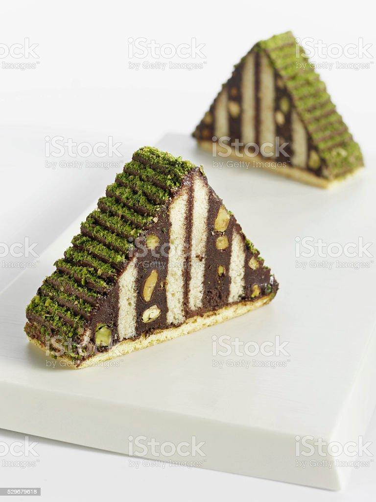 Mosaic cake stock photo