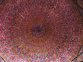 Mosaic ceiling of Nasir ol Molk Mosque, Shiraz, Iran