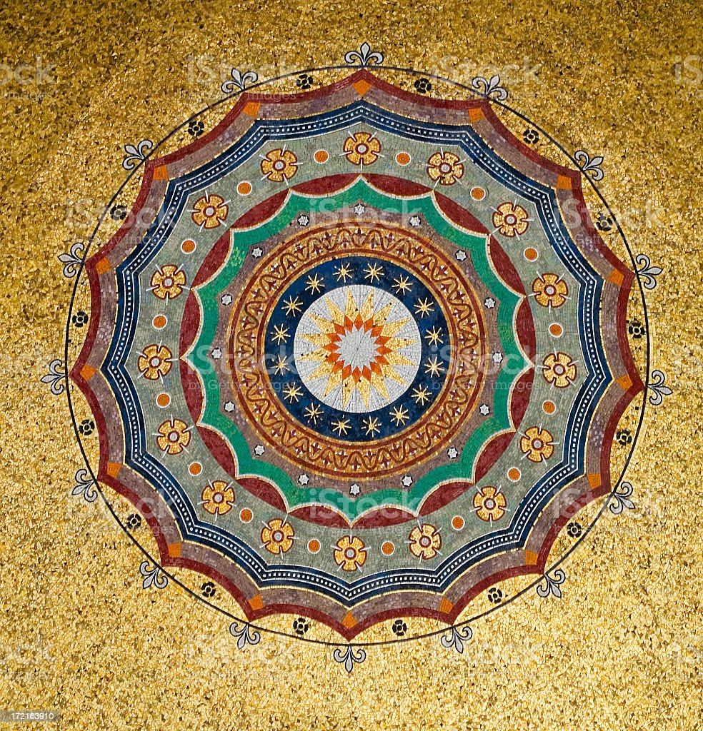 Mosaic ceiling. stock photo