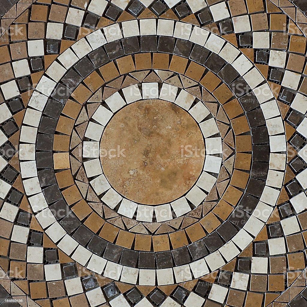 mosaic circle floor royalty-free stock photo