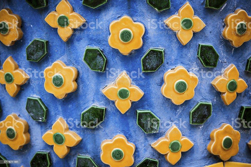 Mosaic Decoration of Wat Arun - Bangkok, Thailand royalty-free stock photo