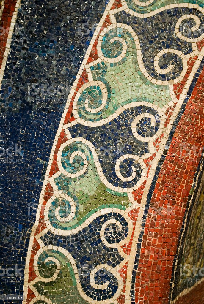 Mosaic detail stock photo