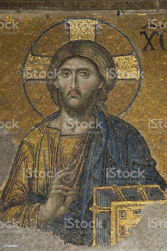 Mosaic Details from Hagia Sophia royalty-free stock photo