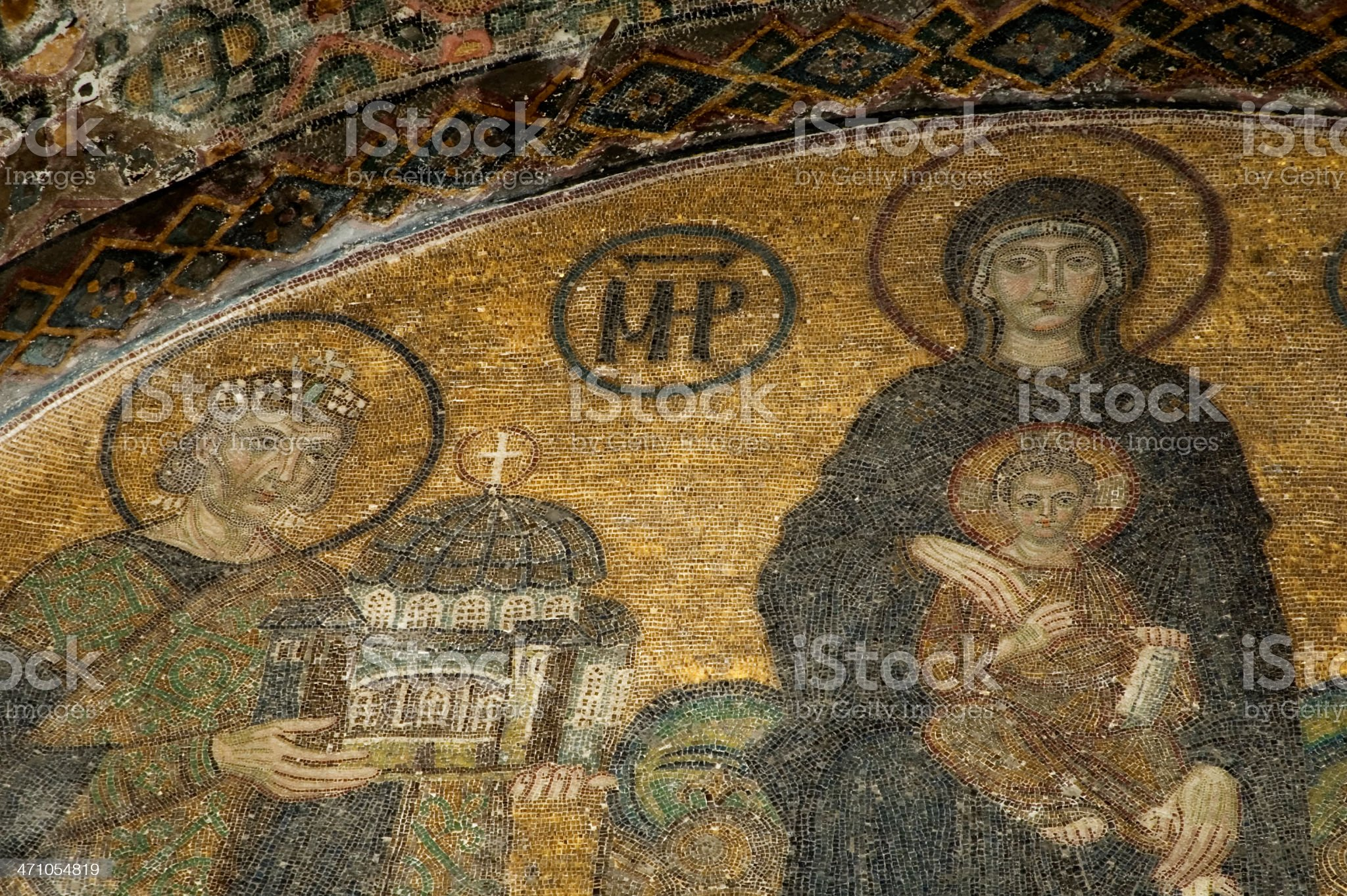 Mosaic Details from Hagia Sophia royalty-free stock photo