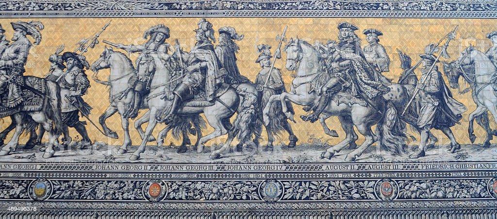 mosaic, dresden stock photo