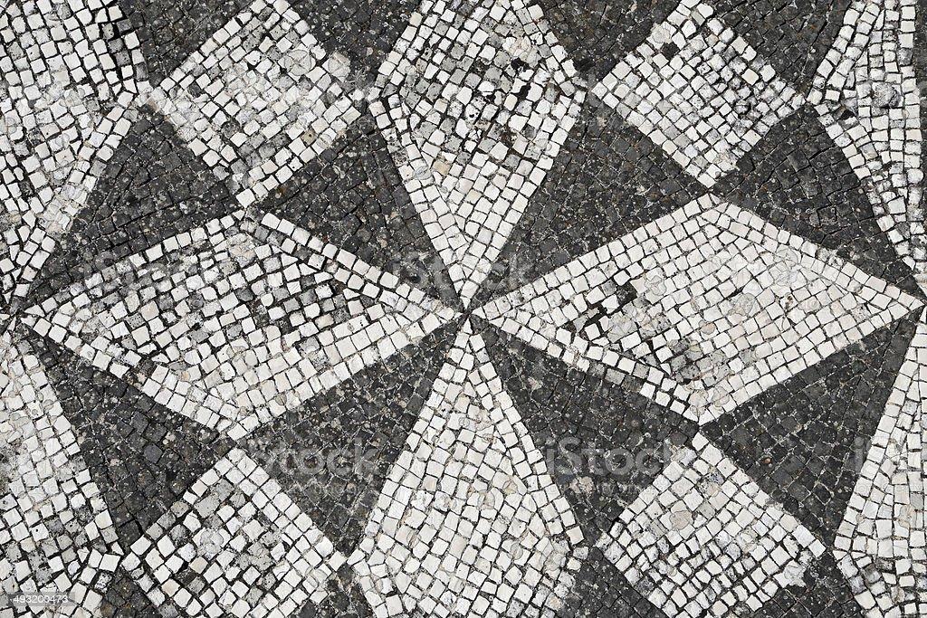 Mosaic floor stock photo