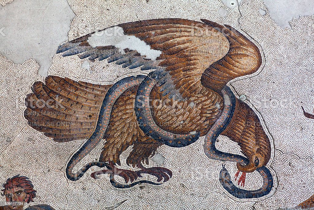 Mosaic from the Byzantine period in Istanbul, Turkey stock photo