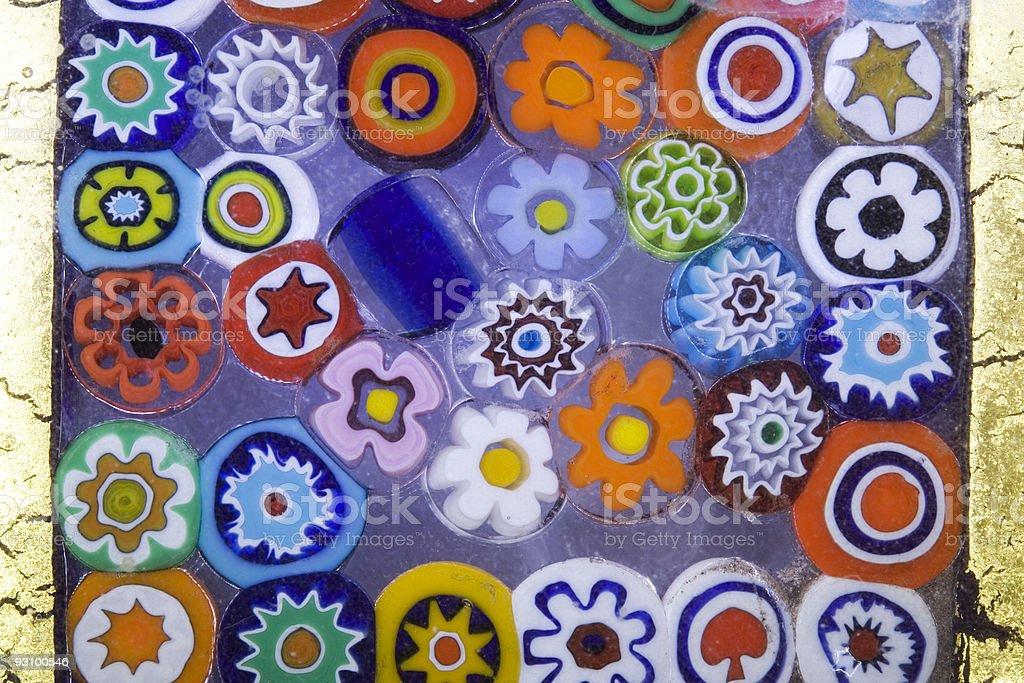 Mosaic glass background stock photo