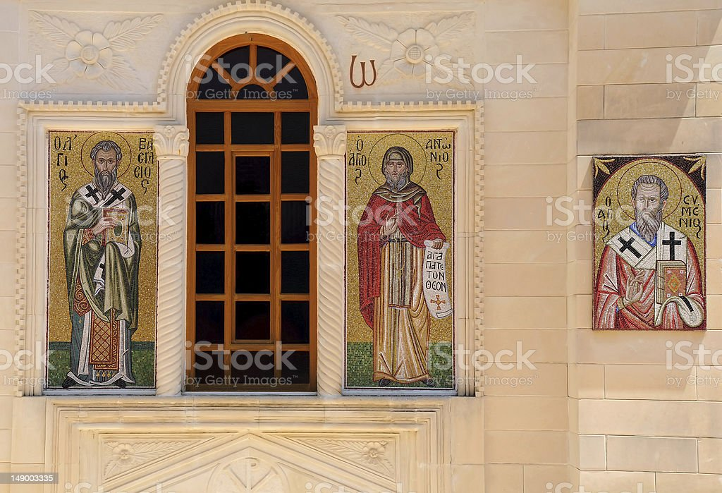 Mosaic Icons of Greek Orthodox Church royalty-free stock photo