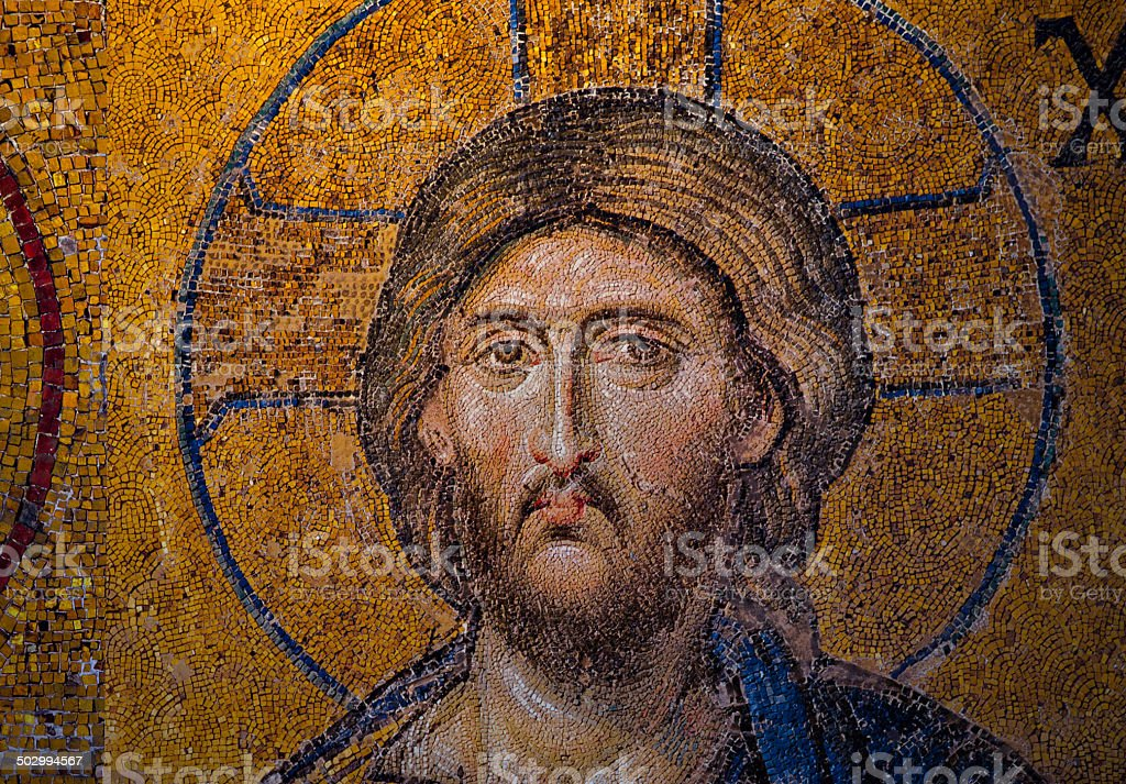 Mosaic image of Jesus Christ stock photo