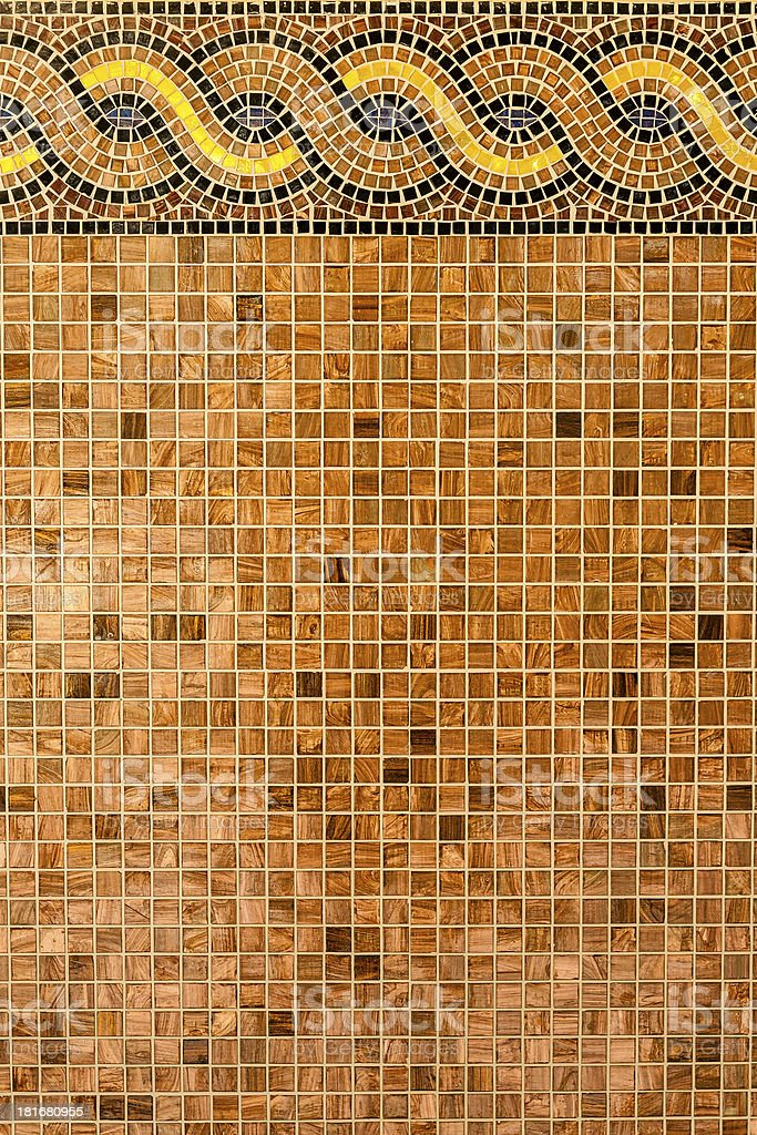 Mosaic in ancient style. stock photo