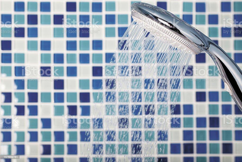 mosaic in the bathroom stock photo