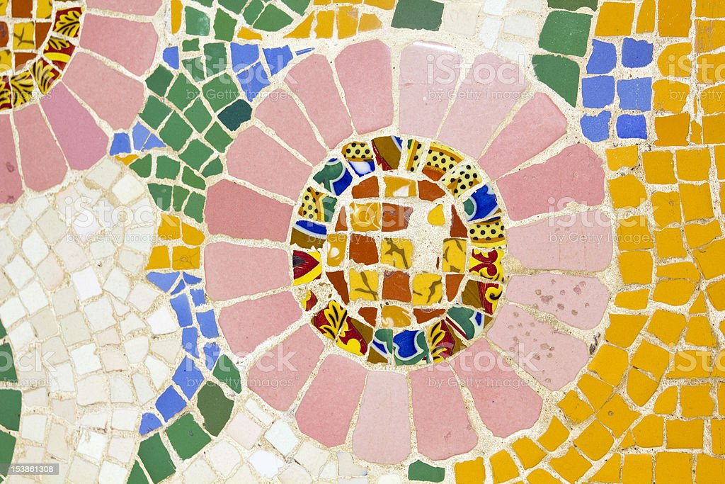 Mosaic. Modernist style (also called Art Deco) royalty-free stock photo