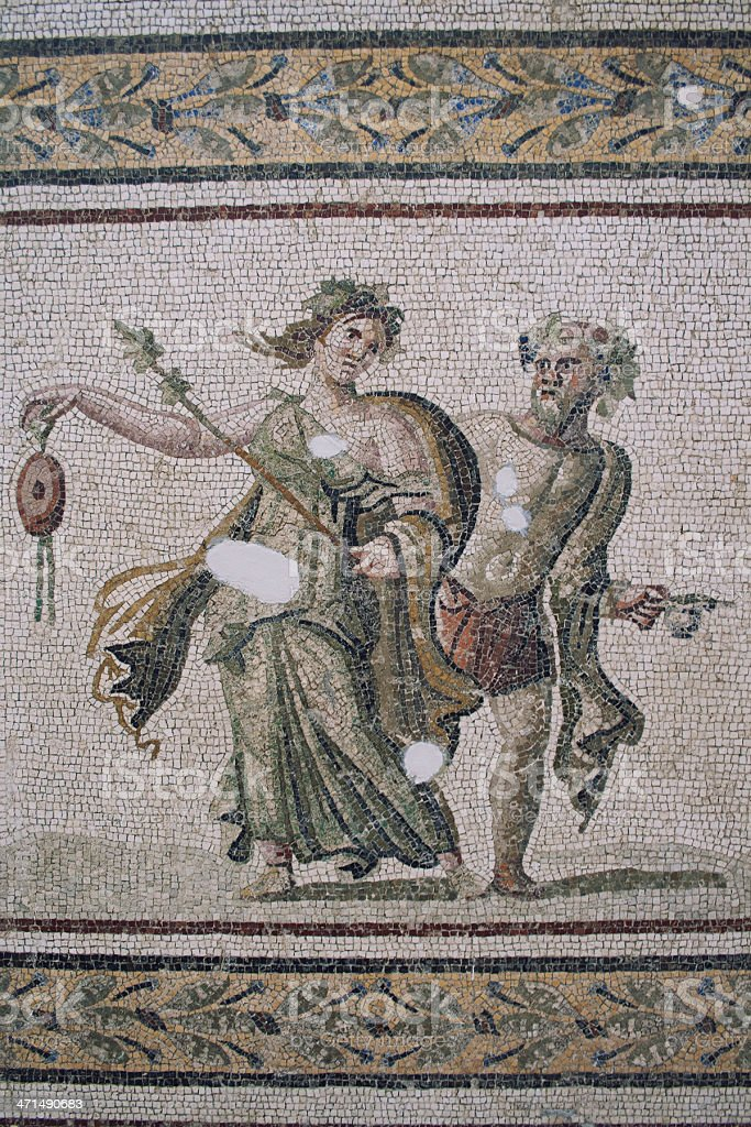 Mosaic of Andromeda-Perseus and Dancers royalty-free stock photo