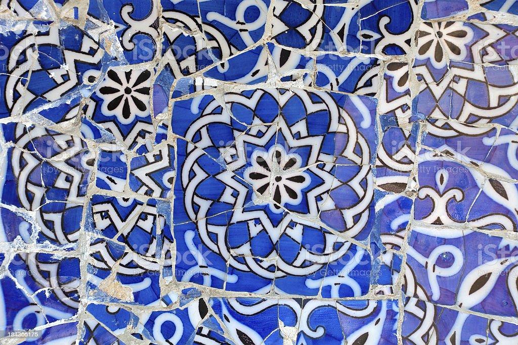 Mosaic of broken tiles royalty-free stock photo