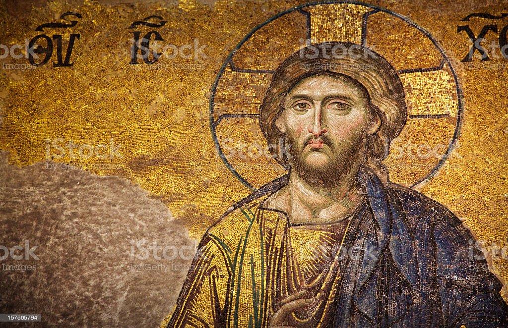 Mosaic of Jesus Christ, Istanbul stock photo