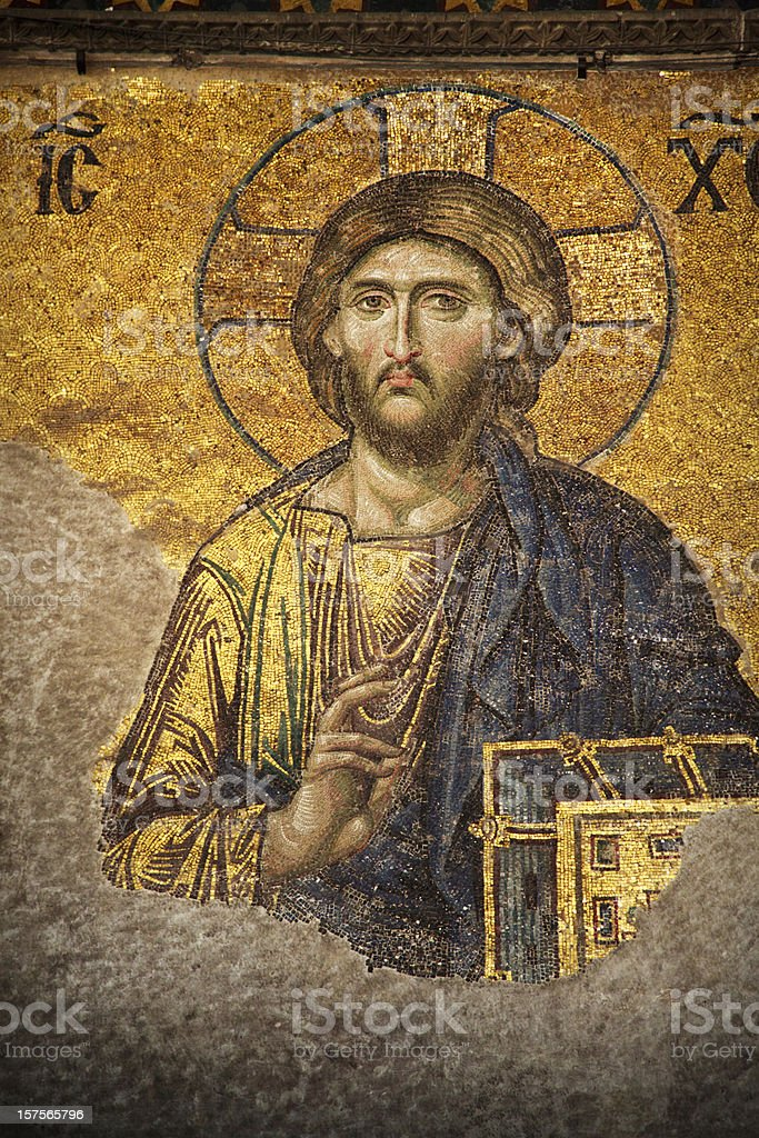 Mosaic of Jesus Christ, Istanbul royalty-free stock photo