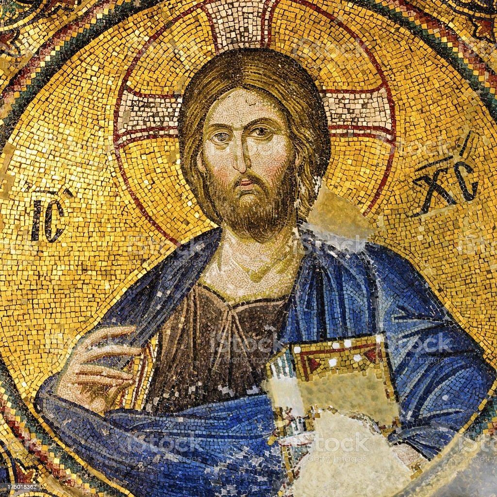 Mosaic of Jesus Christ, Istanbul, Turkey stock photo