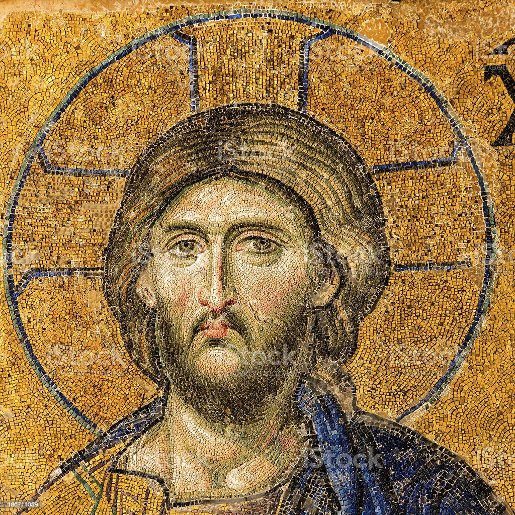 Mosaic of Jesus Christ, Istanbul, Turkey royalty-free stock photo
