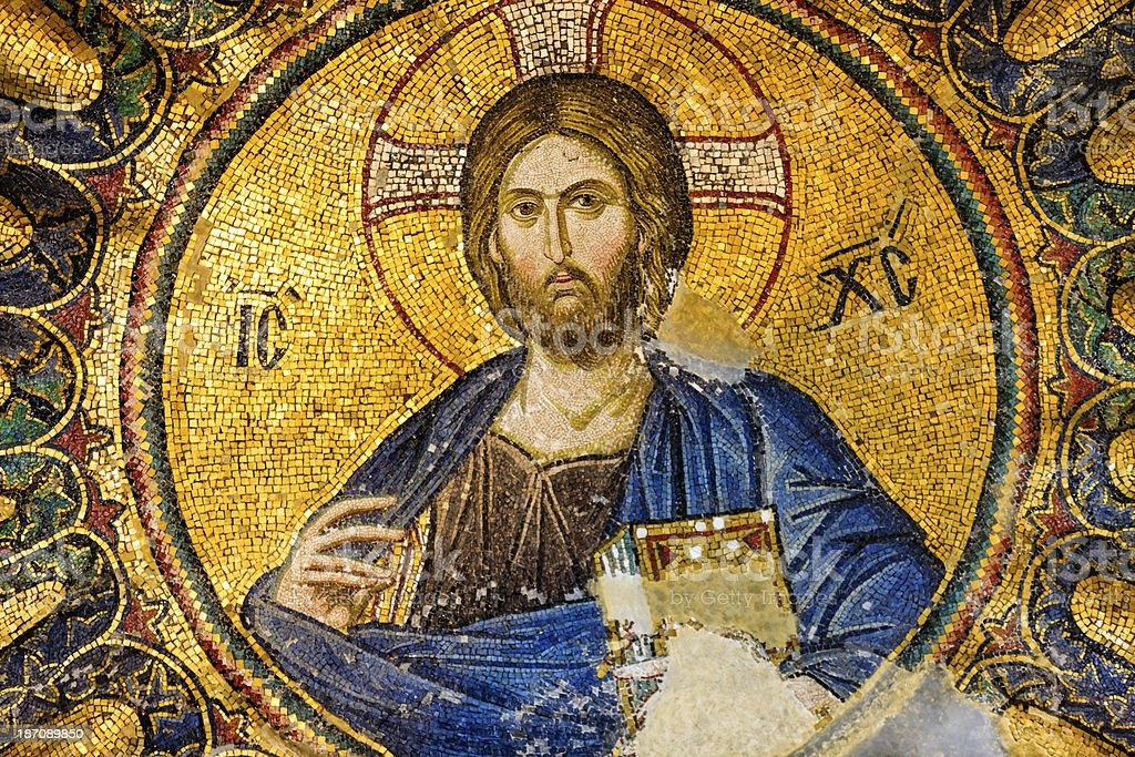 Mosaic of Jesus Christ, Istanbul, Turkey stock photo