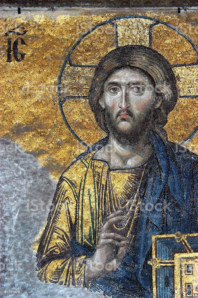 Mosaic of Jesus Christ royalty-free stock photo