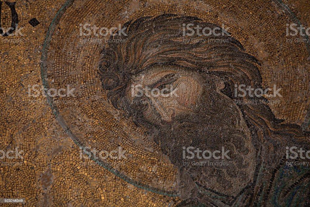 Mosaic of John the Baptist (Ioannes Prodromos) in Hagia Sophia stock photo