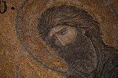 Mosaic of John the Baptist (Ioannes Prodromos) in Hagia Sophia