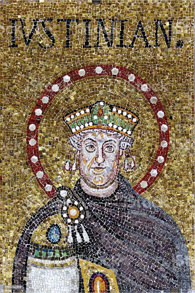 Mosaic of Justinian royalty-free stock photo