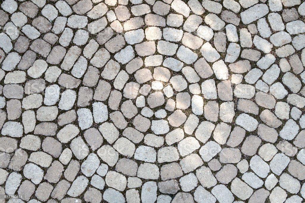 Mosaic of oval cobblestones royalty-free stock photo