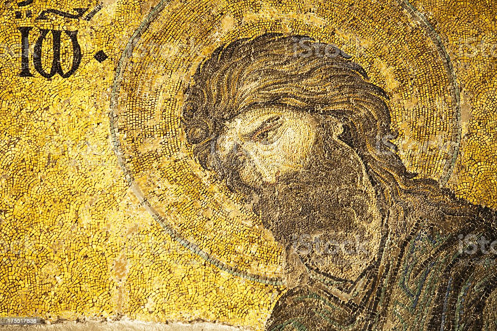 Mosaic of Saint John the Baptist stock photo