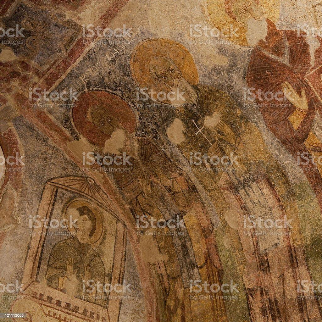 Mosaic of Saint Nicholas Church In Demre Myra royalty-free stock photo
