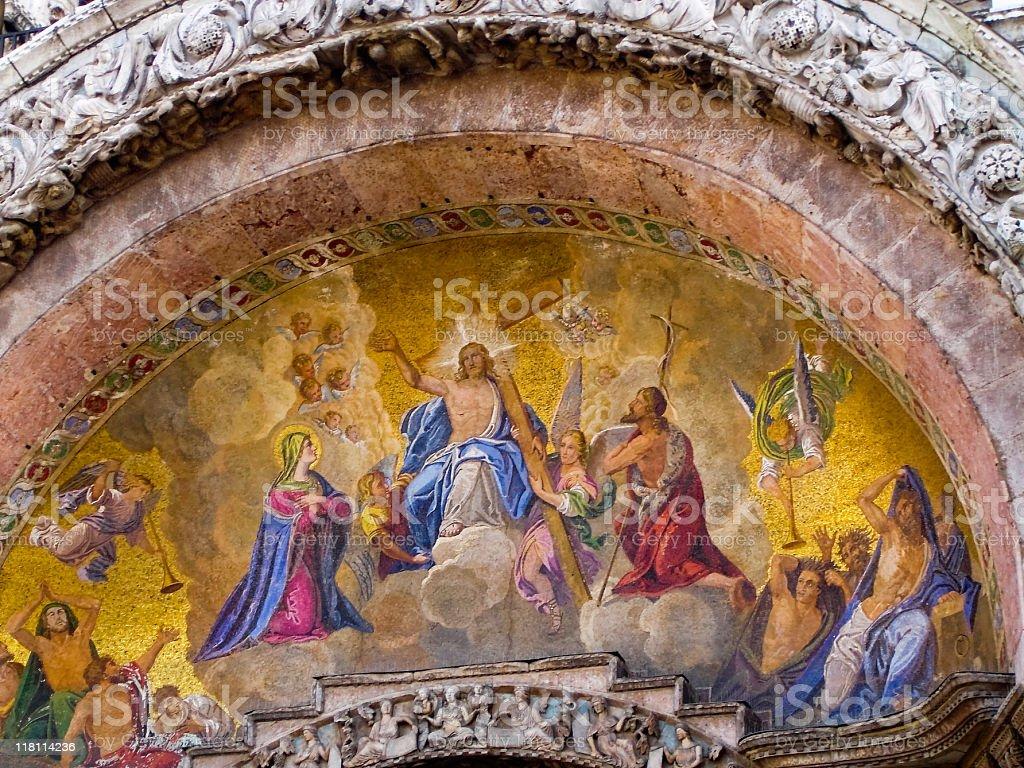 Mosaic of San Marko Basilica royalty-free stock photo