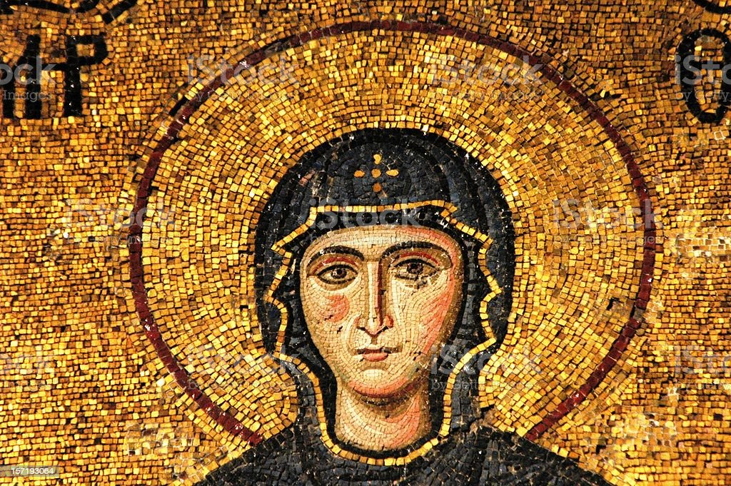 Mosaic of Virgin Mary royalty-free stock photo