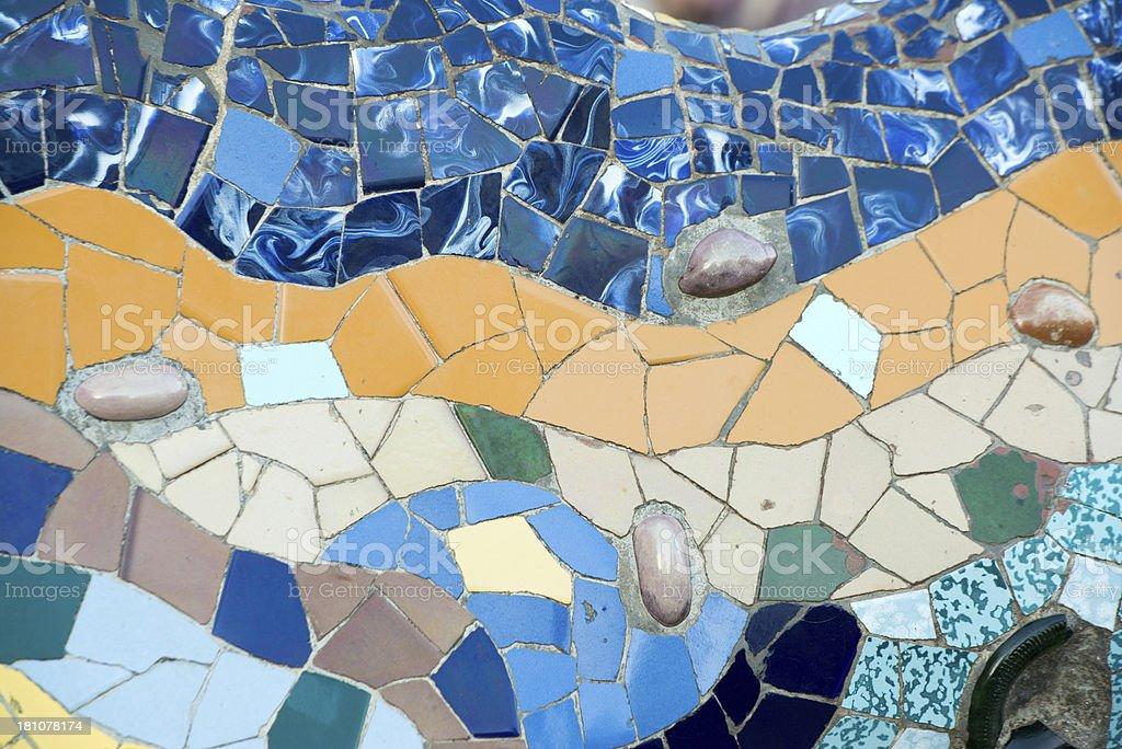 Mosaic on Gaudi's Casa Batlló royalty-free stock photo