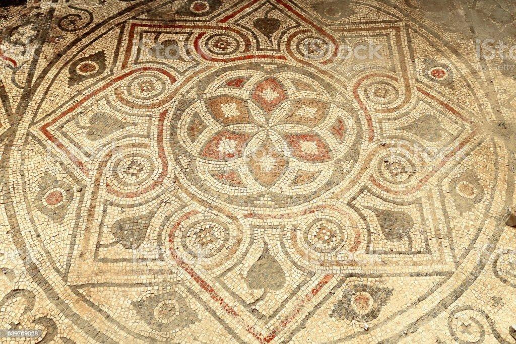 Mosaic on the Sebasteion or imperial cult temple. Arykanda-Turkey. 0569 stock photo