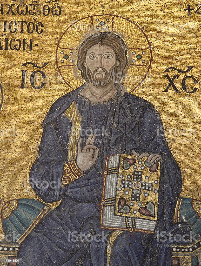 mosaic  sample from Hagia Sophia stock photo
