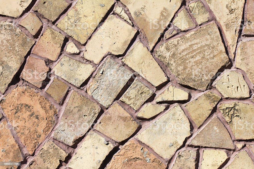 mosaic stone wall texture stock photo
