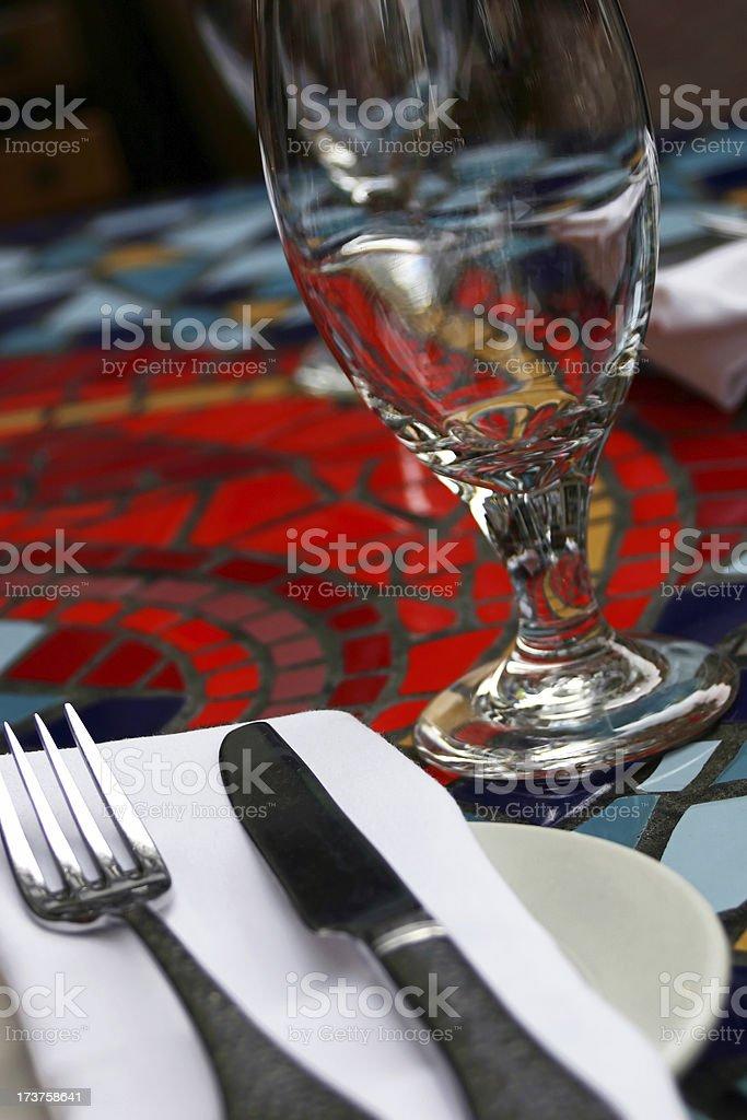 Mosaic Table Setting stock photo