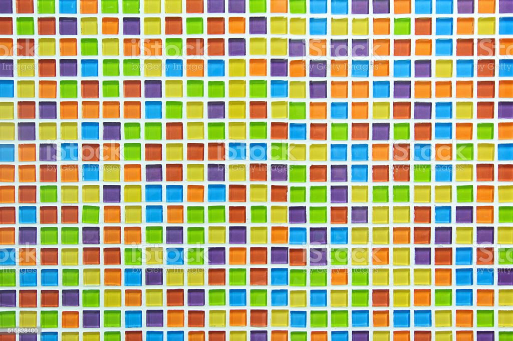 Mosaic textured colorful walls stock photo