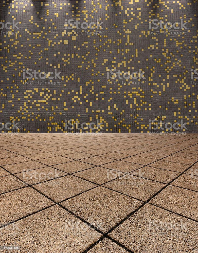 mosaic tiled hallway - Background royalty-free stock photo