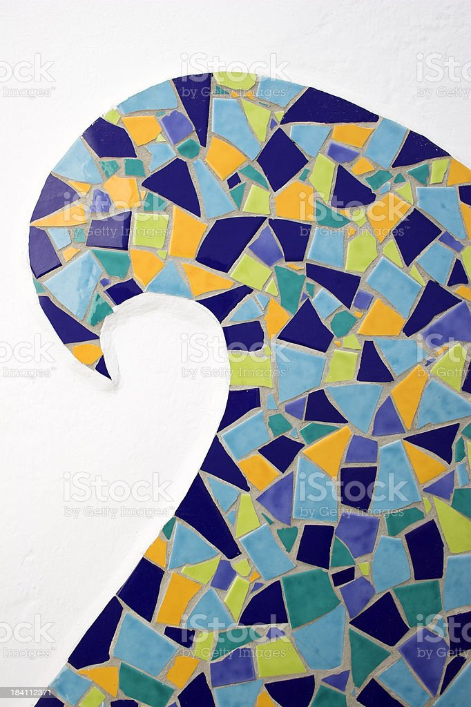 Mosaic tiles detail royalty-free stock photo