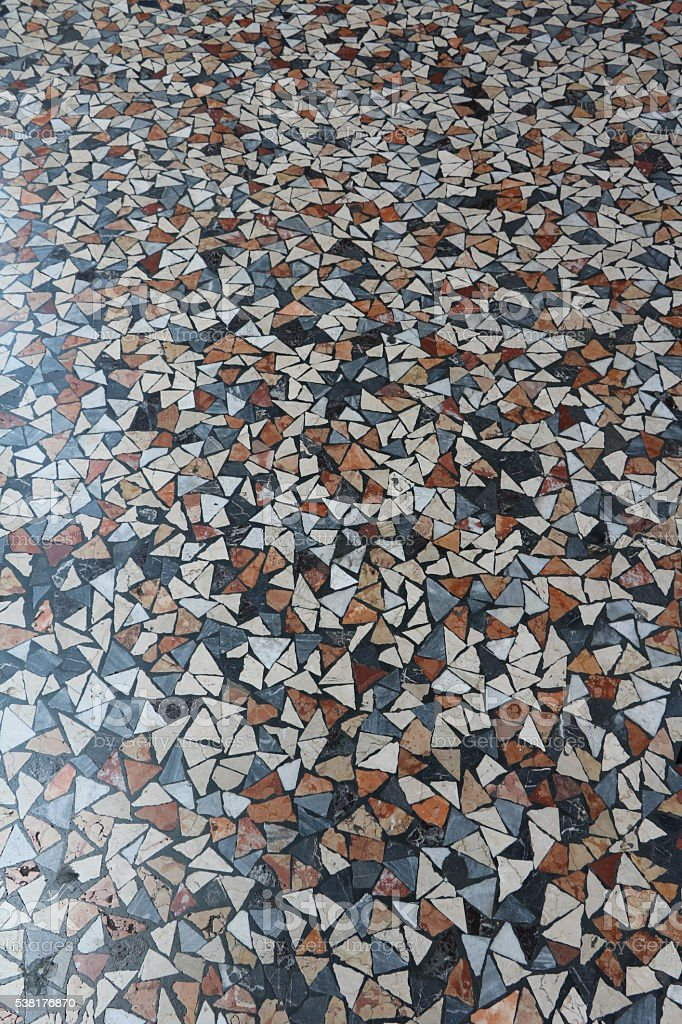 Mosaic walkway, Bologna Italy stock photo
