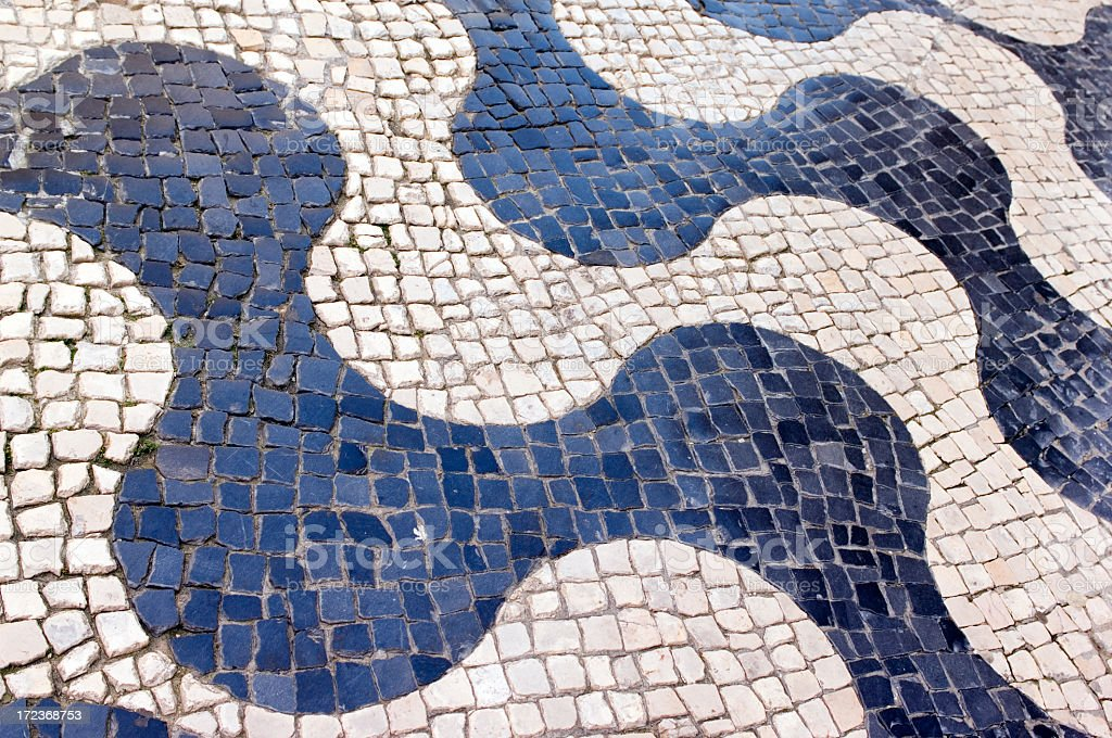 Mosaic walkway royalty-free stock photo