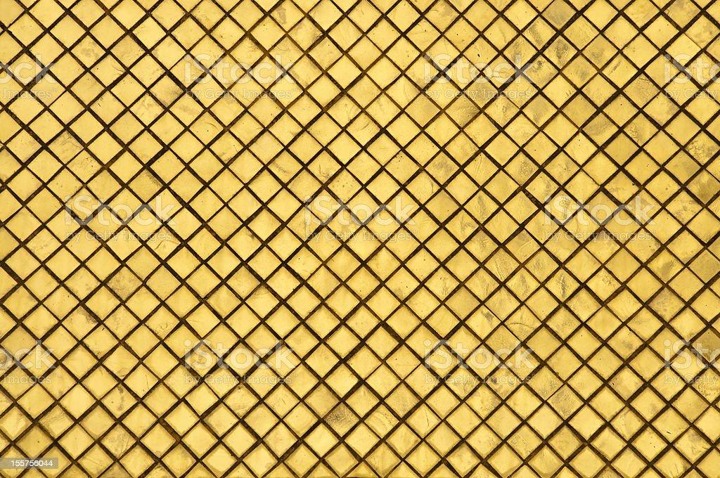 Mozaika ściany odzwierciedlenie w Wat Phra Keaw Złoty Rozciągacz, Bangkok zbiór zdjęć royalty-free