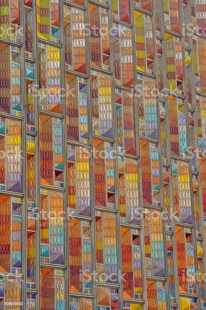 Mosaic windows stock photo