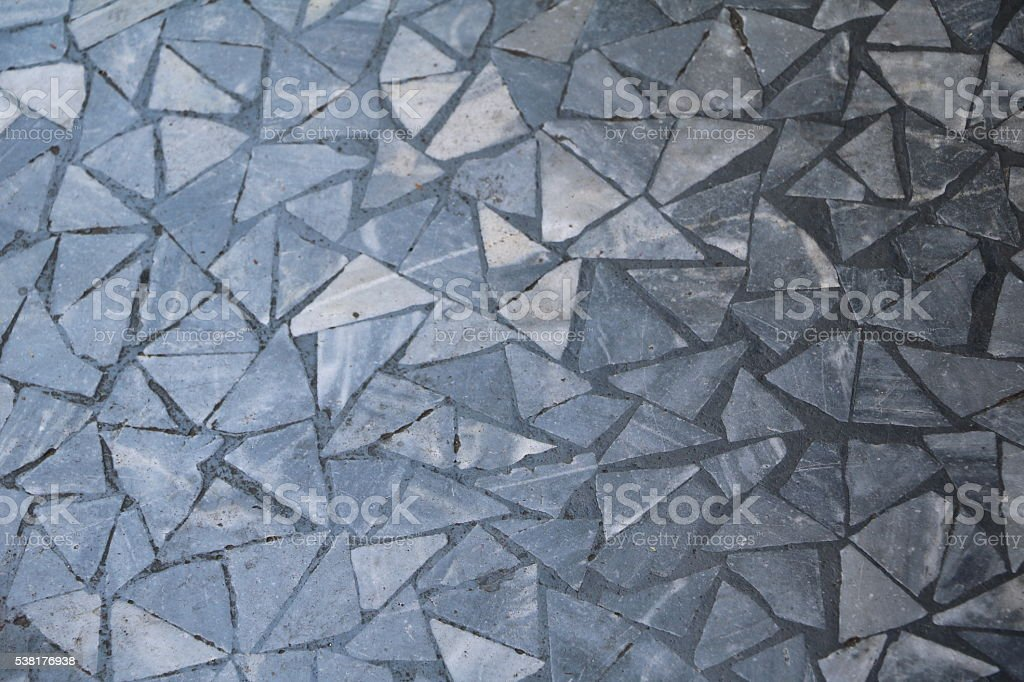 mosaic with grey colors at the bottom stock photo