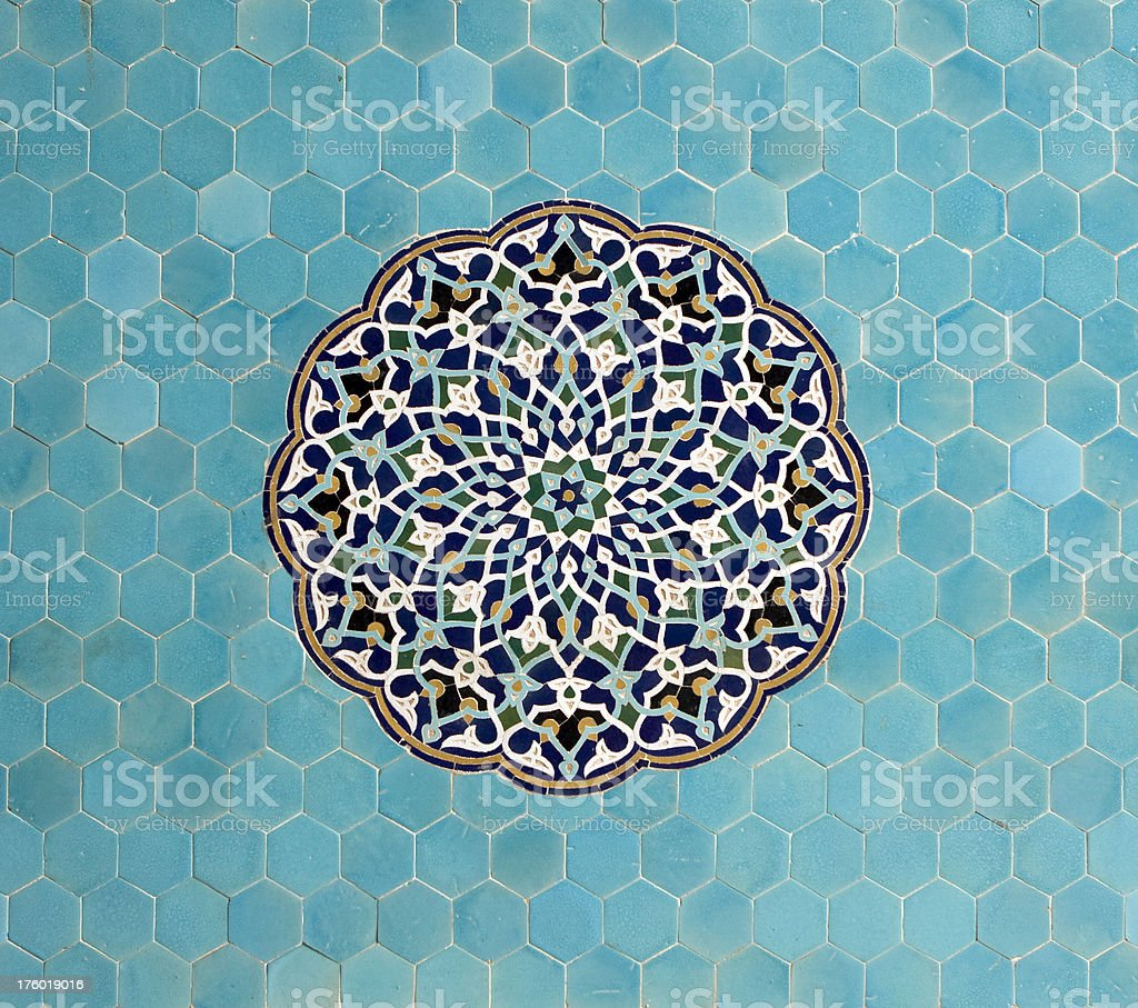 Mosaics and patterns from Asian buildings royalty-free stock photo